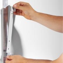 Sistema de portahojas transparentes con 5 portahojas