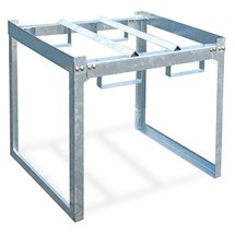 Sistema modular de estante de barris