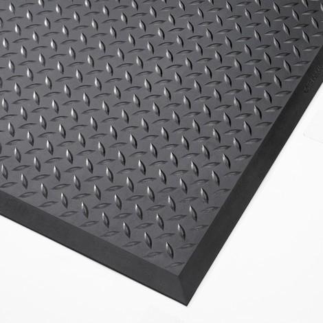 Sistema para tapete anti fadiga, peça central/terminal