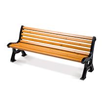 Sitzbank AACHEN mit Holzbohlen