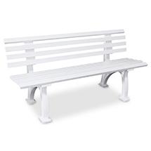 Sitzbank Bern aus Kunststoff mit 2 Standbeinen. Länge 1500 mm