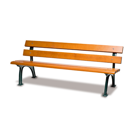 Sitzbank BRILON mit Holzbohlen