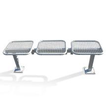 Sitzbank mit 3 Drahtgittersitzen
