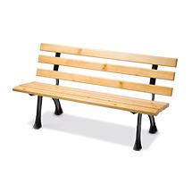 Sitzbank MÜNSTER mit Holzbohlen