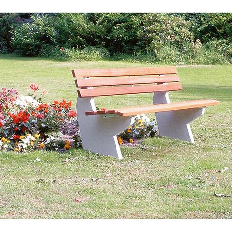 Sitzbank OSLO, PVC-Latten mit Holzeinlage