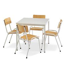 Sitzgruppe BASIC Komplettangebot: 1 quadratischer Tisch + 4 Stühle