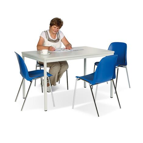 Sitzgruppe BASIC Komplettangebot: 1 rechteckiger Tisch + 4 Stühle