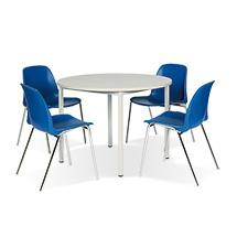 Sitzgruppe BASIC Komplettangebot: 1 runder Tisch + 4 Stühle