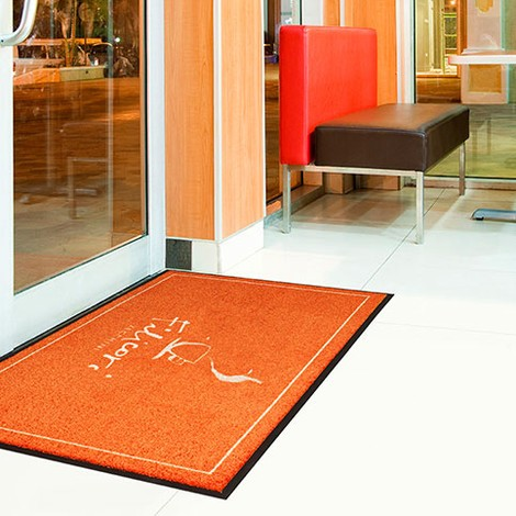 Självtryckande logotyp annonsering matta halkfri tvättbar