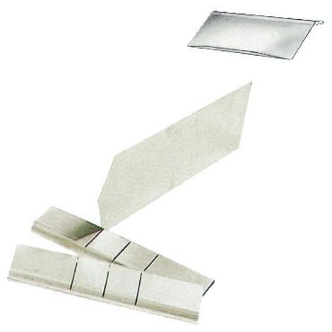 skiljevägg av stålplåt för lagring slådor med öppen front gjord av polystyren