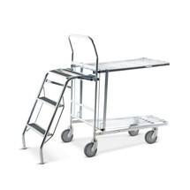Skládací žebřík pro skladovací a přepravní vozík