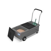 Skladovací vozík pro vázání granulí
