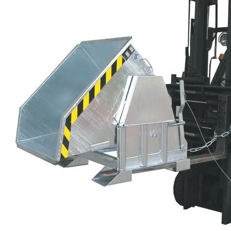 Sklopná kontejner s pojízdná mechanika Premium, široké konstrukce, pozinkovaná, bez víko
