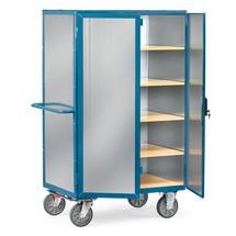 Skříňový vozík fetra®, uzavřený, s dvojkřídlovými dveřmi