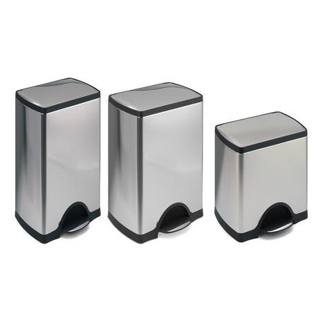 SLIM pedal waste bin, stainless steel