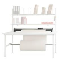 Snijvoorziening en as onder het tafelblad voor de paktafels Classic en Multiplex