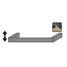 Sockelblende inkl. Stellfüßen Q30 Breite 1164mm
