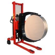 Sollevatore rotoli elettrico, orientabile, supporto rotoli regolabile