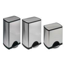 Sopbehållare SLIM med pedal, rostfritt stål