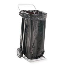 Soporte para bolsas de basura BASIC, con 2 ruedas de caucho|goma maciza