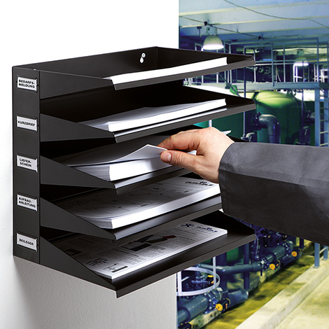 Sortierreck mit 5 oder 8 Fächern für DIN A4 / Folio Format