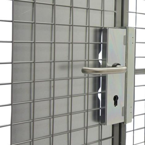 Sovrapprezzo serratura a cilindro europeo per contenitore di stoccaggio TROAX®
