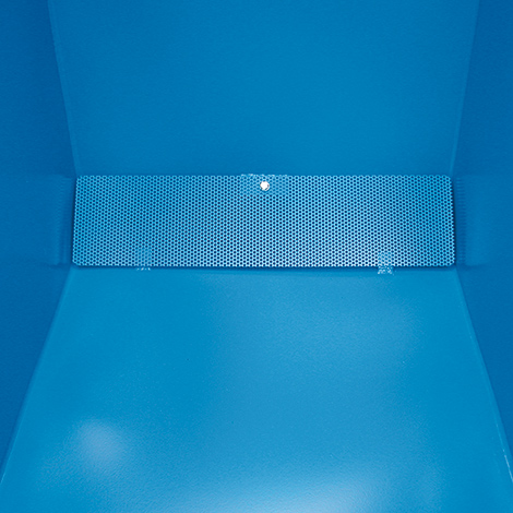 Späne-Kippbehälter unterfahrbar, 1330x900x1090, lackiert