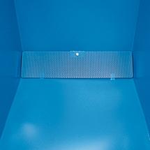 Späne-Kippbehälter unterfahrbar, 1400x1070x1220, lackiert