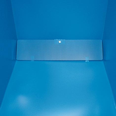 Späne-Kippmulde niedrige Bauhöhe, Volumen 600l, lackiert