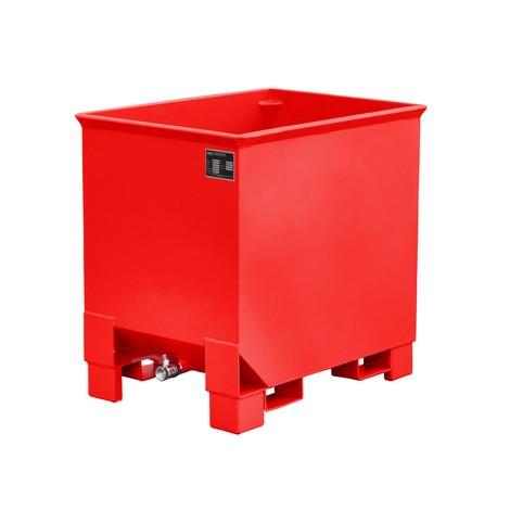 Späne-Stapelbehälter für Routenzüge, lackiert, Volumen 0,3 m³