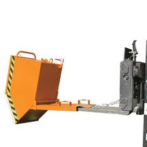 Spån-dumpercontainer, boxformat tråg, lackerad, volym 1 m³