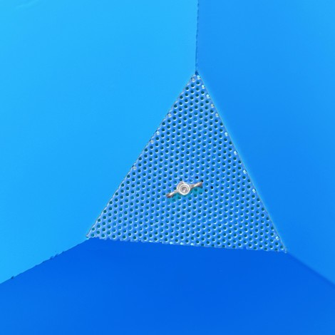 Spån-vippebeholder, tømmemulighed i plan med jordoverfladen, lakeret, volumen 0,25 m³, med lommer