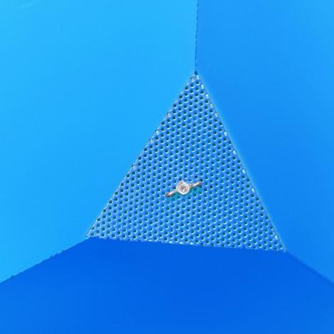 Spån-vippebeholder, tømmemulighed i plan med jordoverfladen, lakeret, volumen 0,4 m³, med lommer