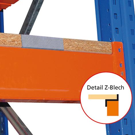 Spanplatte, aufgelegt für das  Palettenregal Typ S