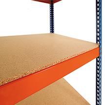Spanplatten für Weitspannregal Stecksystem, blau/orange