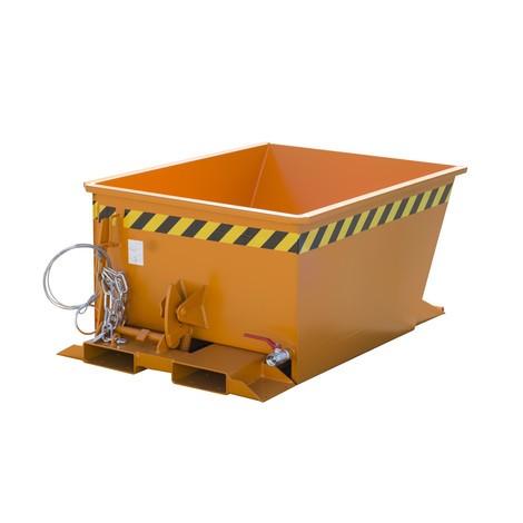 Spåntippcontainer för rutthissar, målade, volym 0,3 m³