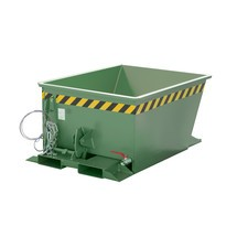 Spånvippecontainer til rutehejser, malet, volumen 0,3 m³