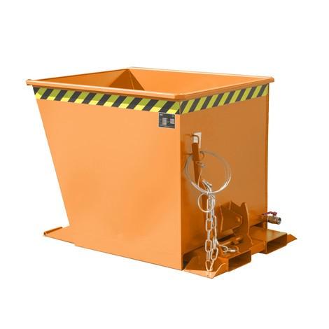 Spånvippecontainer til rutehejser, malet, volumen 0,55 m³