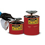 Sparanfeuchter aus Stahlblech. Inhalt 0,5 - 4 Liter