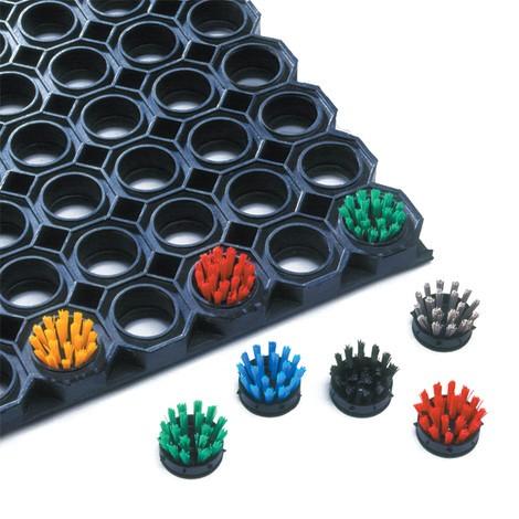 Spazzola rotonda per tappetino anti-sporcizia con profilo a nido d'ape
