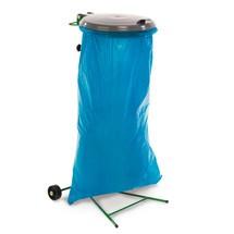 Speciale afvalverzamelaar, met 2 plasticwielen, vuurverzinkt/loofgroen