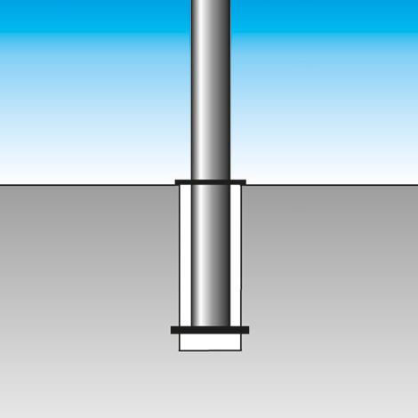 Sperrpfosten rund Ø 102mm