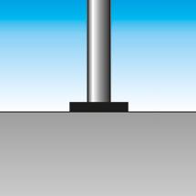 Sperrpfosten rund Ø 60mm