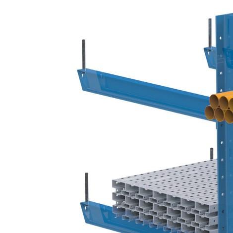 Spina antirotolamento a incastro per scaffalatura cantilever META, per carichi pesanti