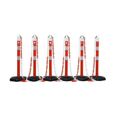 Súprava zahradzovacích stĺpikov na reťaz Premium