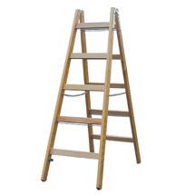 Sprossen-Doppel-Stehleiter KRAUSE ® aus Holz