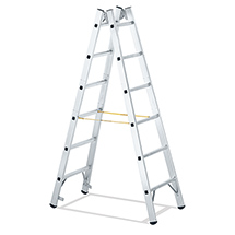 Sprossen-Stehleiter Zarges. Beidseitig begehbar
