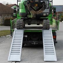 Sprossen-Verladeschienen ohne Schutzrand. Tragkraft bis 6810 kg