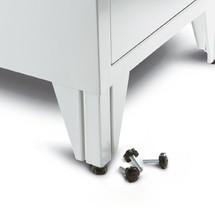 Śruby do szafy garderobianej służące do wyrównania poziomu
