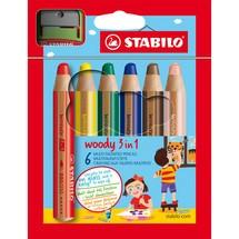 STABILO® Holzfarbstifte woody 3 in 1